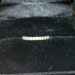 Jewelry - 14k White Gold Diamond Wedding Stackable Band